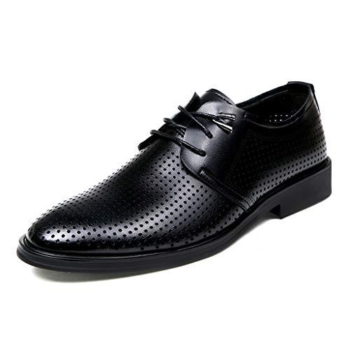 [Placck] 通気性 ビジネスシューズ 紳士靴 メッシュ 夏 通勤 オフィス レースアップシューズ 快適 軽量 防臭 カジュアル サンダル Hei43