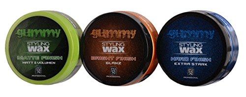 Fonex Styling Pack: Gummy Styling Wax Matte Finish, Bright Finish & Hard Finish (je150 ml)   Haarwachs mit & ohne Glanz   Haarwax für Männer, Herren   Hair wax men für kurze & lange Haare