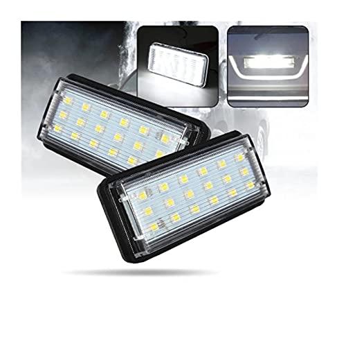 ZIHAN Feil Store Error a par de Errores LED LED Número de Carcasas de Placa Light Fit para Toyota Land Cruiser 120 Land Cruiser 200 Prado 200 para Lexus LX470 GX470