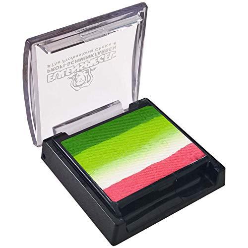 Eulenspiegel 340509-Maquillaje Split Cake Lotus, Contenido 6 ml, Esmeralda, Verde Bruja, Blanco, Rosa Fucsia, a Base de Agua, Maquillaje Infantil, Carnaval (340509)