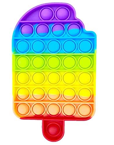 NF ROADTOLOVE Pop it Fidget Toy   Juguete Sensorial Antiestres para Niños y Adultos   Bubble Push Pop   Juguetes de Explotar Burbujas para Aliviar Ansiedad y Estrés   Pop it Helado