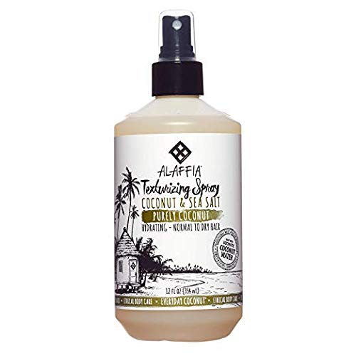 Alaffia - Purely Coconut Texturizing Spray, For Normal to Dry Hair, Hydrating Support to Add...