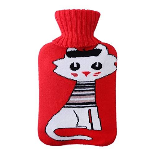 ZXC Home mini-warmtefles, draagbaar, warm, PVC, kleine inhoud, explosieveilig bed, verwarming, thermoskan, rood