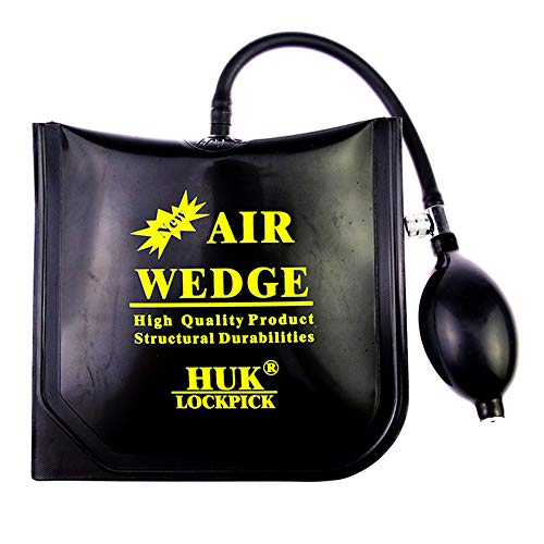 Loboo Idea Air Wedge Pump Up Pince carrée et rectangulaire Pompe à air Wedge Up Outil d'alignement Outil Cale gonflable coussinée Puissante (Moyenne, HUK)