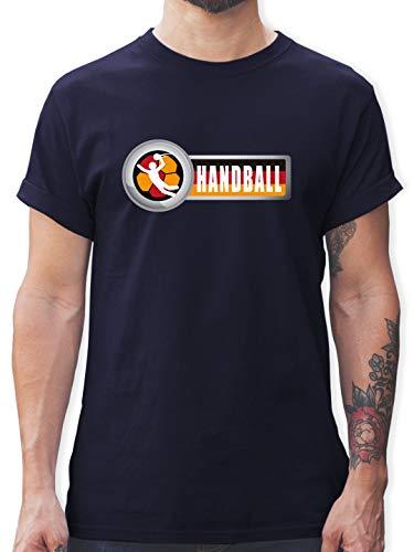 Handball WM 2021 - Handball Deutschland 2 - M - Navy Blau - wm Shirt - L190 - Tshirt Herren und Männer T-Shirts