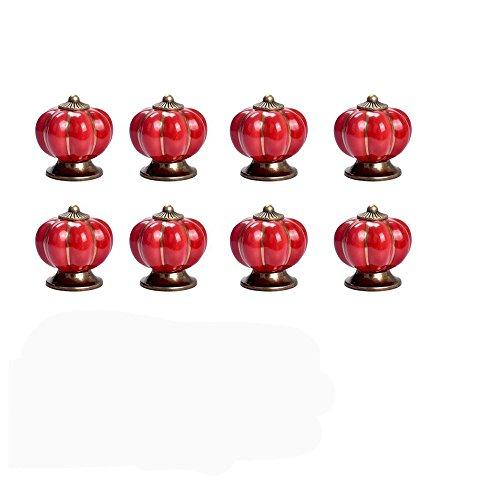 8PCS in stile vintage a forma di zucca cassetto manopole, Homeself porta cassetto manopola Pull handle-40mm Red