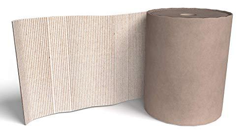 IMBALLAGGI 2000 - Rotolo Cartone ondulato Pacchi per Imballaggio - Ideale per Mascheratura e Protezione - Avana - Altezza cm 100 (50 MT)