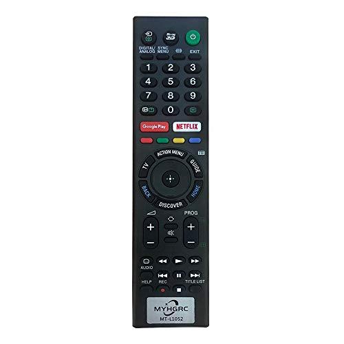 MYHGRC Nuevo Mando TV Universal Mando a Distancia para Sony bravia TV (Netflix,3D,GooglePlay Botón), No Se Requiere Configuración para Sony TV Mando a Distancia Universal