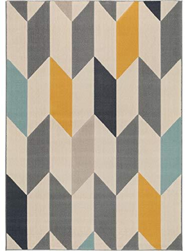 benuta Alfombra Postre Multicolor 140x 200cm | Moderna Alfombra para salón y Dormitorio