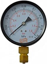 "100mm 6 bar manómetro de entrada lateral medidor de presión m20x1,5 + 1/2""reducción bsp"