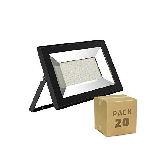 LEDKIA LIGHTING Pack Projecteur LED Solid 30W (20un) Blanc Chaud 3000K