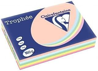 160 g//m/² Ramette de 250 feuilles de papier Troph/ée bleu turquoise A4 Lot de 4