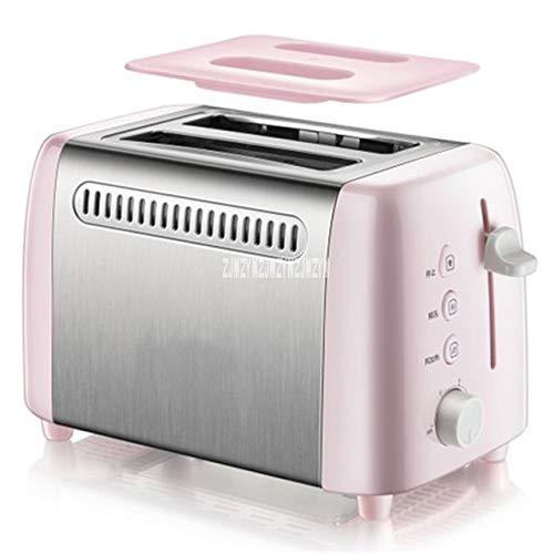 Modenny Toaster'bread automática Tostadora Con anti-polvo cubierta deshielo función de Hogares 6-Gear Mini desayuno Tostadora de acero inoxidable 2 rebanadas for Familias Marchas ajustables Sand-desay