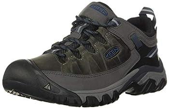 KEEN Men s Targhee 3 Low Height Waterproof Hiking Shoe Steel Grey/Captains Blue 12