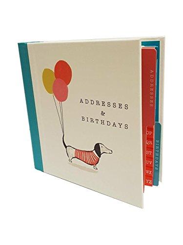 Die Artfile Adresse und Geburtstag Buch Sausage Dog Design