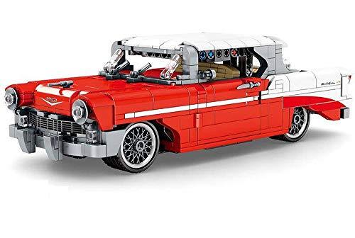 Brigamo Bausteine Auto 57er Chevy Bel Air Oldtimer, Konstruktionsspielzeug, 28 cm