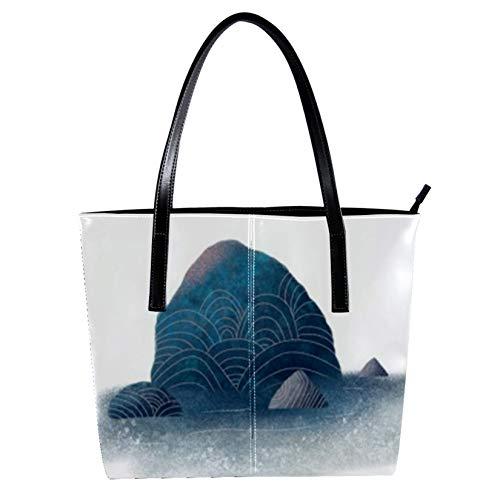 Gulf Reef Women's Handbags, soft leather handle bag Handle Satchel Bag for Work Travel Large Messenger Bag