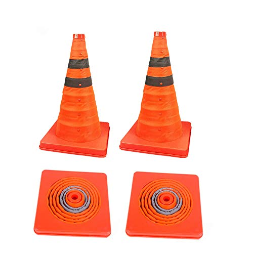 4 Pack 18 inch Collapsible Traffic Cones/Traffic Cone Sign/Multi Purpose Pop up Reflective Safety Cone,OrangeSize : 18 inch /45cm)
