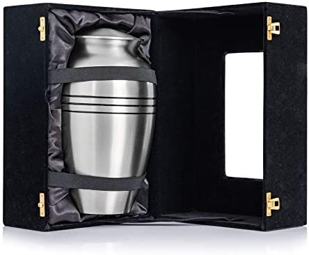 Classic Urns and Memorials Stainless Steel Classic Urn Solid Brass Cremation Urn Lidded Memorial product image