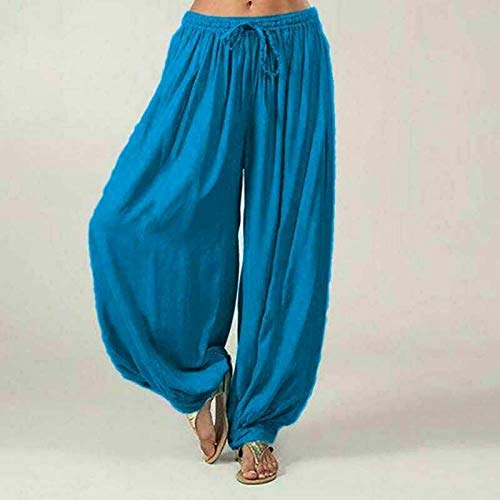 Elastische jumpsuit, katoenen harem losse casual damesbroek, dans yoga broek