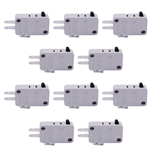 TWTADE / 10pcs Universal Microwave Door Oven Freezer Micro Limit Switch Series AC/DC 125V 250V V-15-1C25 Snap Action for Arduino