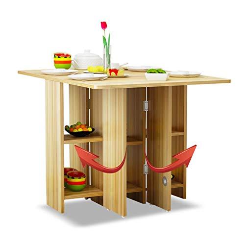 Eettafel, home telescoop, kleine klaptafel, rechthoekig, draagbaar bureau, inklapbare multifunctionele tafel, D A