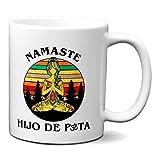 Taza Namaste Hijo de P*ta - Taza Graciosa Yoga Meditacion Zen Simbolo Om - Desayuno Café Ceramica...