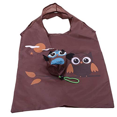 Niedliche Eule Zusammenklappbare Einkaufstasche, Wiederverwendbare Schulterhandtasche Einkaufstasche Aufbewahrung