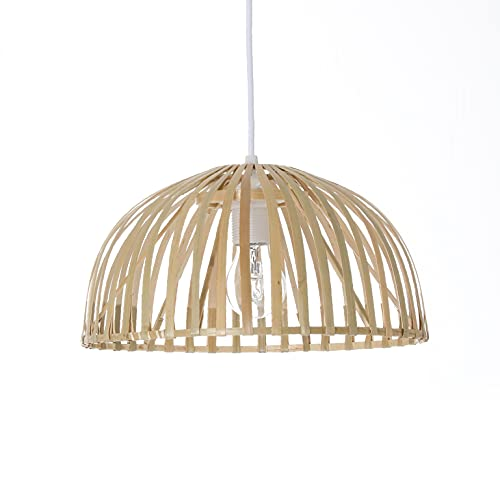 Luminaire Hanoi 30, suspension bambou, 60 W, naturel , ø 30 x H 16 cm