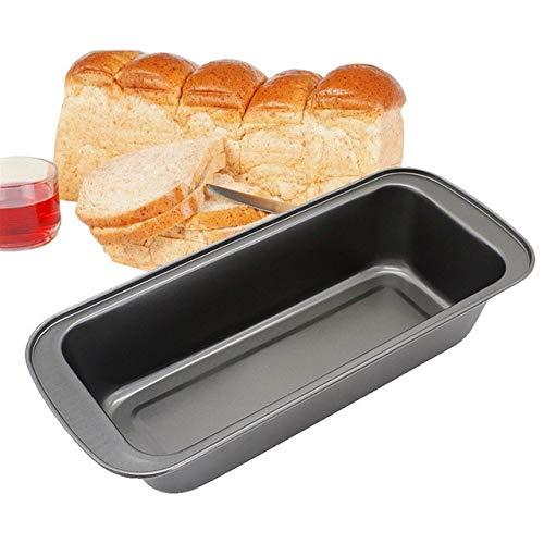 FAY Baking Pan Nonstick Carbon Steel Bread,1Pcs Pan Loaf Pan Rectangular Long Toast Box Baking Supplies Cheese Toast Baking Molds,Black,S
