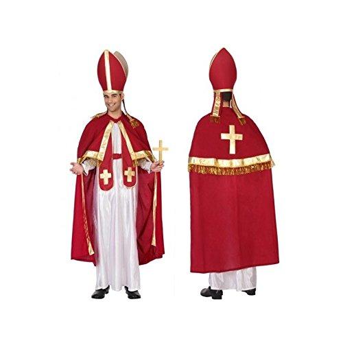 Atosa-93947 Disfraz Papa, color rojo, M-L (93947)
