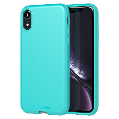 tech21 Studio Colour Mobile Phone Case - Compatible with Apple iPhone XR - Protective Case with Anti-Microbial Properties, Peppermint, Model:T21-7212