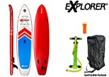 EXPLORER SUP STREAM ( 11.0 ) 335 x 75 x 15 cm Inflatable Isup aufblasbar Stand Up Paddle Board Pumpe Surfboard Aqua