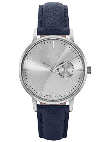 Gant Unisex Erwachsene Analog Quarz Uhr mit Leder Armband W109227