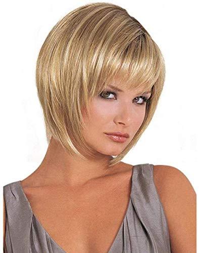 ZTBXQ Zubehör Pflege Haarteile Perücken Perücke Perücke Für Damen Damen Bob Ombre Mixed Gold Kurzes Haar Hochwertige Daily PartyPerücken