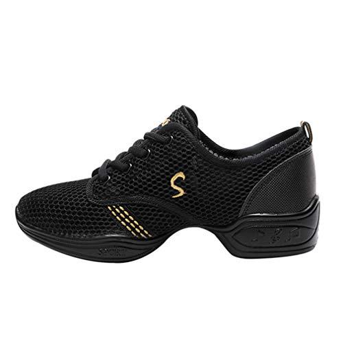 Unisex Zapatos De Baile Danza Moderna Zapatos De Jazz Movimiento Atar Zapatos De La Bordado De Letras Aptitud Color De Empalme Pareja Zapatos