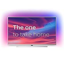 Philips Ambilight 43PUS7304/12 Fernseher 108 cm (43 Zoll) Smart TV (4K, LED TV, HDR 10+, Android TV, Google Assistant, Alexa kompatibel, Dolby Atmos) Hellsilber©Amazon