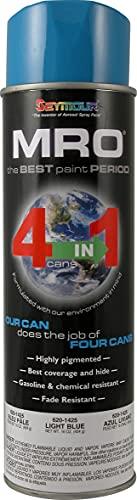 SEYMOUR 620-1425 Industrial MRO High Solids Spray Paint, Light Blue