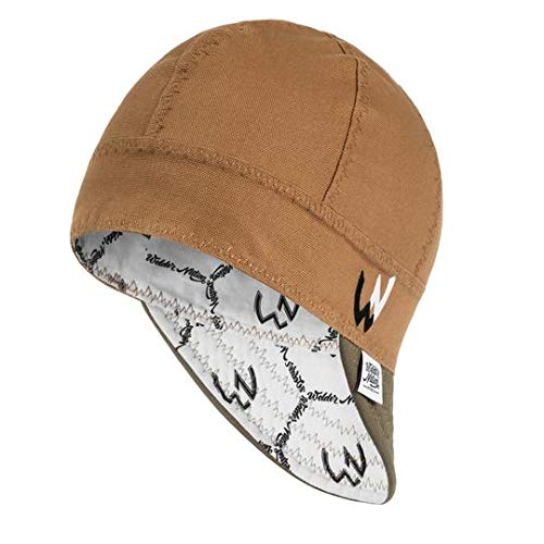 Welder Nation 8 Panel Welding Cap, Durable, Soft 10 oz Cotton Duck Canvas, for Safety and Protection While Welding (7 3/8, Ranch Tan/Olive)