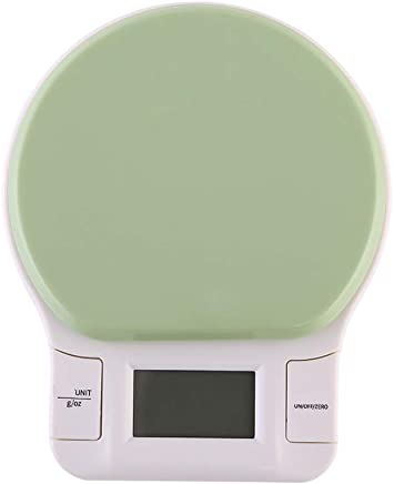 Practical 3KG/0.1g LCD Display Electronic Digital Kitchen Scale Electronic Kitchen Food Diet Balance Measuring Weighing Scales (Color : Green, Size : A)