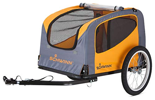 Schwinn Rascal Bike Pet Trailer, For Small and Large Dogs, Folding Frame Carrier, Quick Release Wheels