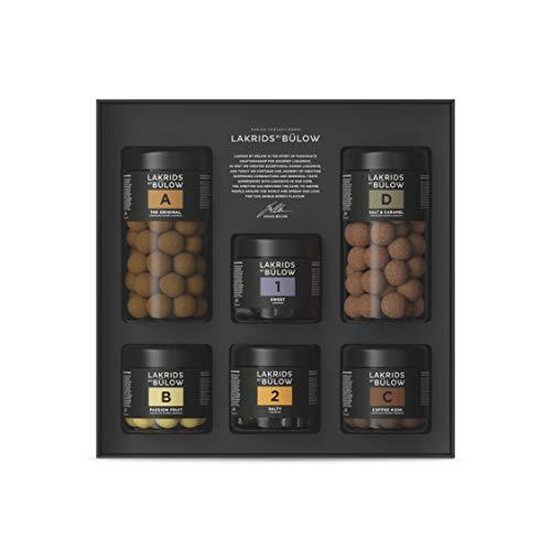 LAKRIDS BY BÜLOW - Large Black Box - 1140g - A, B, C, D, 1 & 2 - Dänische Gourmet Lakritze in hochwertiger Geschenkbox