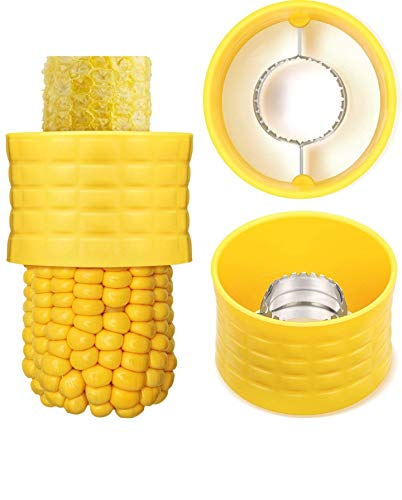 AKADO Kitchen Manual Portable Gadgets Kernel Corn Stripper Mini Circular Shaver threshing Cutter Stripping kernels Remover with Stainless Steel Blade (Multicolor- 1 PCS)