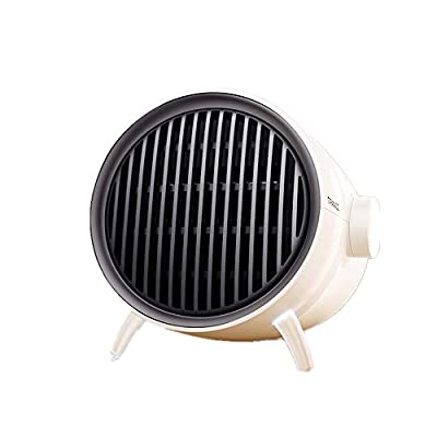 Fan Heater, Small Portable Electric Heaters Fan Quick Heat & Overheat Protection & Thermostat - Vortex Heater for Office Desk Home Bedroom Indoor Use