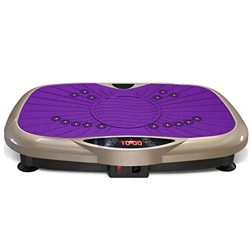 HEWEI Ultra Slim Vibration Plate Hochleistungs-Silent-Motor Intelligente Fernbedienung Home Slimming Body Toning Magnetfeldtherapie Shiatsu-Massage