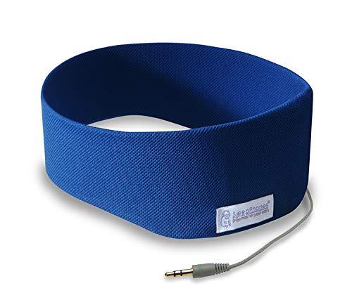 AcousticSheep SleepPhones Classic | Kabelgebundene Kopfhörer für Schlaf, Reisen und mehr | Die originellen und bequemsten Kopfhörer zum Schlafen | Königsblau – Breeze Stoff (Größe S)