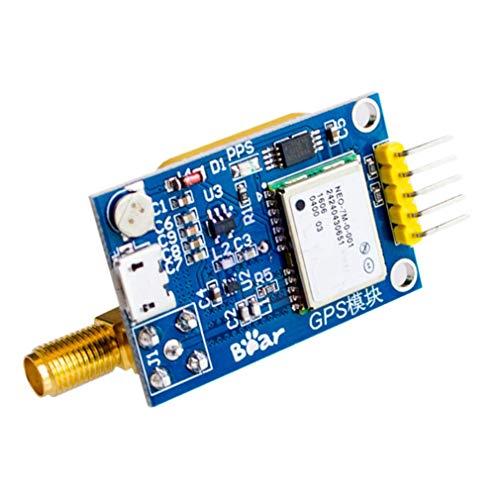 ZHITING NEO-7M UBLOX GPS-Satellitenpositionierungsmodul mit SMA-Antennenschnittstelle für Arduino STM32 C51 Ersetzen Sie das 3,3-V / 5-V-Netzteil NEO-6M