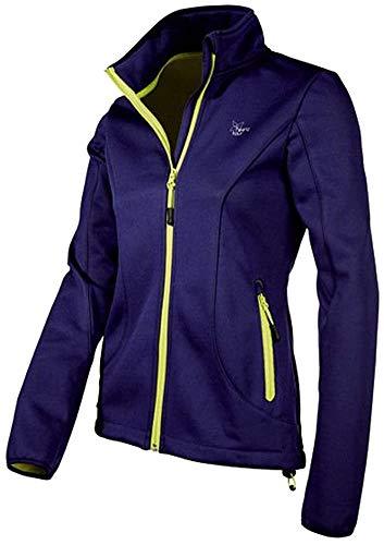 CRIVIT® Damen Softshelljacke (Gr. S 36/38, violett/gelb)