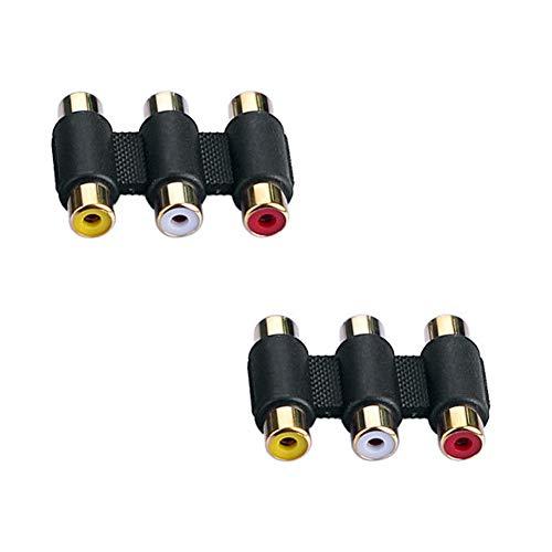 Yushare 3 RCAオス-オスビデオケーブルオーディオケーブルAVケーブル(赤、白、黄色)コンポジットビデオ+オーディオ接続ケーブル延長ケーブル (2 x adapter)