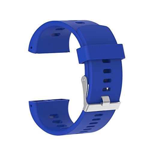 P Prettyia Ersatz Armband Handgelenk Uhrenarmband Band Strap und Verschluss für Polar V800 GPS Sport Smart Armband - Blau